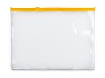 Bolso plástico de la cremallera Imagen de archivo