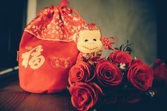 Bolso rojo Fotografía de archivo