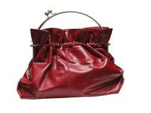 Bolso rojo de la mujer Imagen de archivo libre de regalías