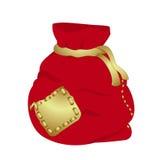 Bolso rojo de la Navidad ilustración del vector