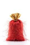 Bolso rojo de la Navidad Fotos de archivo libres de regalías