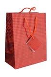 Bolso rojo del regalo Fotografía de archivo libre de regalías
