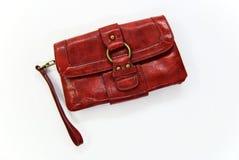 Bolso rojo en blanco Fotografía de archivo libre de regalías