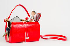 Bolso rojo hermoso Imagen de archivo