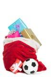 Bolso rojo por completo de presentes fotos de archivo libres de regalías