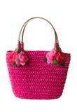 Bolso rosado de la playa Imagen de archivo
