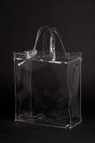 Bolso transparente en negro Foto de archivo libre de regalías