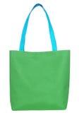 Bolso verde de la tela de las compras Foto de archivo