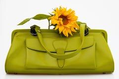 Bolso verde del estilo de los años 60 Imagen de archivo libre de regalías