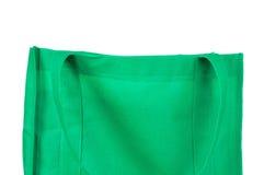 Bolso verde reutilizable Imagenes de archivo