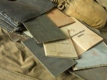 Bolso viejo del ejército Imagenes de archivo