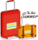 Bolso y equipaje del recorrido Imagen de archivo libre de regalías
