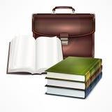 Bolso y libro Fotos de archivo libres de regalías