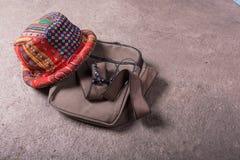 Bolso y sombrero Foto de archivo