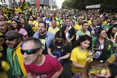 Bolsonaro political rally Oct. 2018 stock images