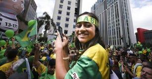Bolsonaro polityczny wiec Oct 2018 obraz stock