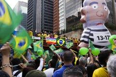 Bolsonaro polityczny wiec Oct 2018 zdjęcie royalty free