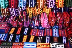 Bolsos étnicos coloridos de Hilltribe Foto de archivo libre de regalías