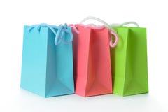Bolsos coloridos del regalo Fotografía de archivo libre de regalías