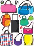 Bolsos coloridos Set_eps Imagen de archivo