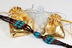 Bolsos con joyería Fotografía de archivo