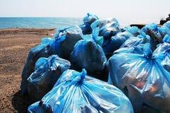 Bolsos de basura Imagen de archivo libre de regalías