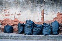 Bolsos de basura Foto de archivo