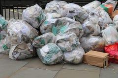 Bolsos de basura Imagen de archivo