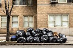 Bolsos de basura Fotografía de archivo