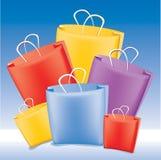 Bolsos de compras Fotos de archivo libres de regalías
