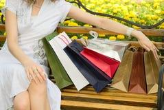 Bolsos de compras Foto de archivo libre de regalías