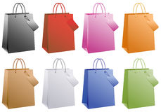 Bolsos de compras coloridos,   Foto de archivo
