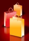 Bolsos de compras coloridos Foto de archivo libre de regalías