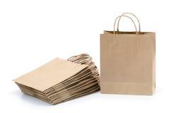 Bolsos de compras de Brown Fotos de archivo libres de regalías