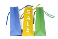 Bolsos de compras de la venta Imagenes de archivo