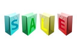 Bolsos de compras de la venta Foto de archivo libre de regalías