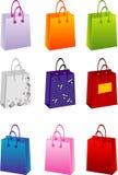 Bolsos de compras del vector Imagen de archivo libre de regalías