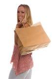 Bolsos de compras en blanco Fotografía de archivo