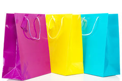Bolsos de compras en viaje de las compras Imagen de archivo libre de regalías