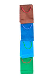 Bolsos de compras multicolores fotografía de archivo