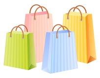 Bolsos de compras multicolores Imágenes de archivo libres de regalías