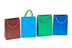 Bolsos de compras multicolores Fotos de archivo libres de regalías