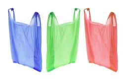 Bolsos de compras plásticos foto de archivo
