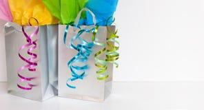 Bolsos de compras - sitio para la copia Foto de archivo libre de regalías
