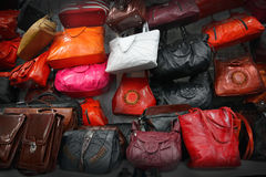Bolsos de cuero Foto de archivo