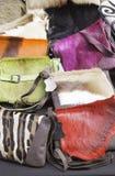 Bolsos de cuero Fotografía de archivo