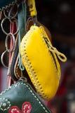 Bolsos de cuero hechos a mano Foto de archivo libre de regalías