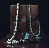 Bolsos de cuero y accesorios Fotos de archivo