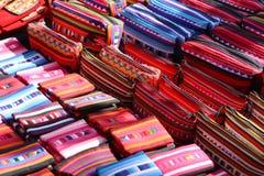 Bolsos de la parada del mercado de calle, Tailandia Fotos de archivo