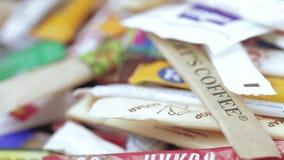 Bolsos del azúcar en bulto almacen de video